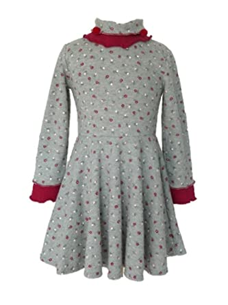 12f718be8e7aa Trocadero - Mode für Kinder - Robe - À Fleurs - Manches Longues - Fille -