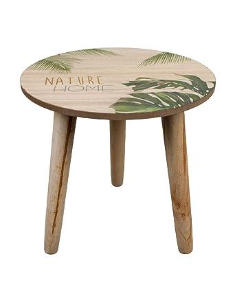 Sidetable 25 Cm.Noor Handels Gmbh Side Table Wooden Table Top Diameter 25 Cm