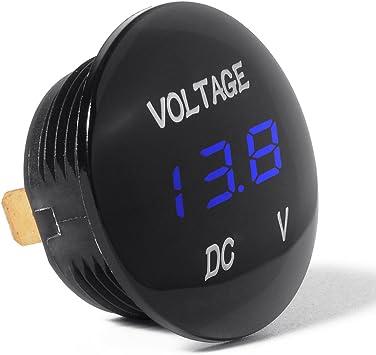 DC 12V-24V LED Panel Digital Voltage Meter Display Voltmeter for Car Motorcycle.