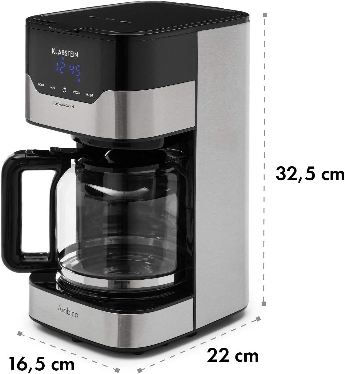 Klarstein Arabica Cafetera - Potencia: 900 W, Capacidad: 1,5 ...