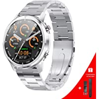 LEMFO Smartwatch voor heren, 1,3 inch full-touchscreen, smartwatch met hartslagmeter, bloeddruk- en bloedzuurstofmonitor…