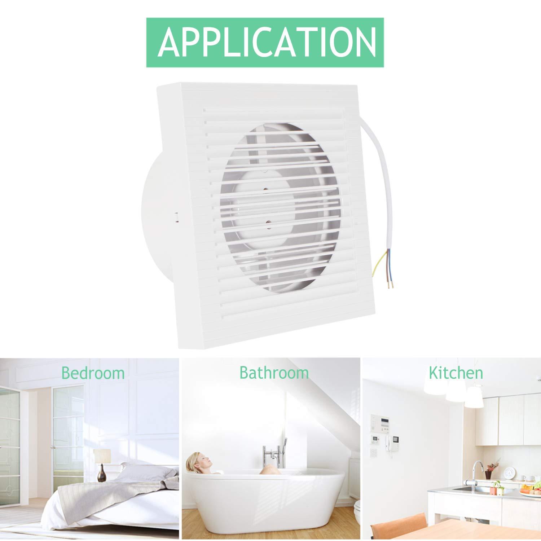 di/ámetro de 125 mm Ventilador extractor de ventilaci/ón est/ándar para cocina o ba/ño de la marca OOPPEN de 5 pulgadas