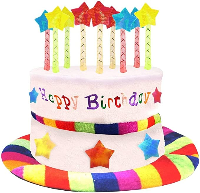 Amazon.com: Novedad Feliz cumpleaños Sombrero Fancy Dress ...