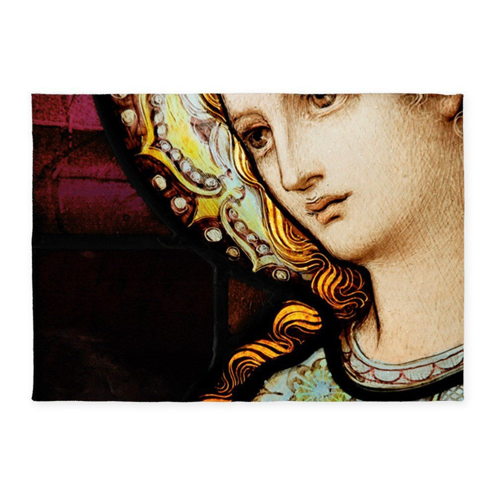 5' x 7' Area Rug Mother Mary Stained Glass by Royal Lion
