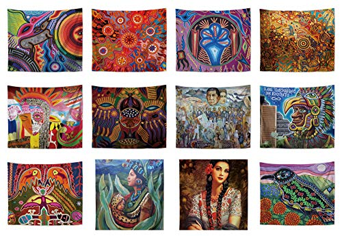 WholesaleSarong 10 Pieces Hispanic Latino Art Mexico Wall Hanging Tapestries Living Room Wall Decor Pictures Accent Wall Decor
