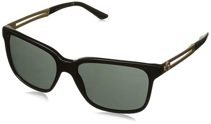 Versace Herren Sonnenbrille VE4307 GB1/87, Schwarz (Black GB1/87), One size (Herstellergröße: 58)