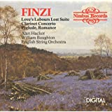 Gerald Finzi:suite from loves labours lost,orchestral works ESO Boughton