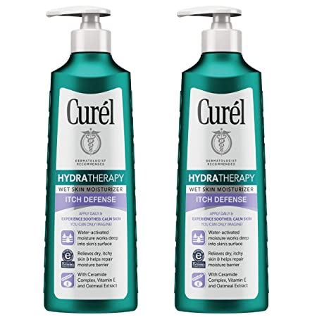 Curel Ultra Healing Lotion 12 Fl Oz Pack of 2 , Hydra Therapy Itch Defense