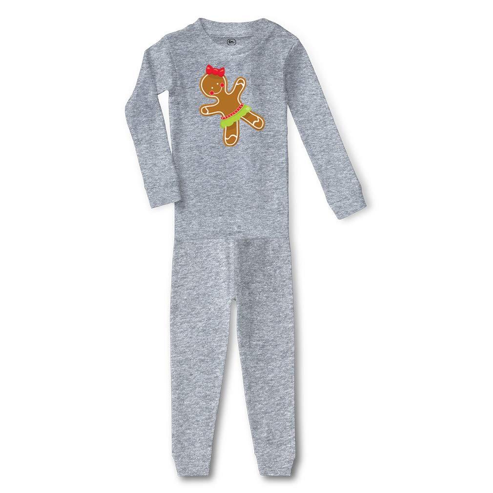 Gingerbread Cookie Girl Cotton Boys-Girls Sleepwear Pajama 2 Pcs Set