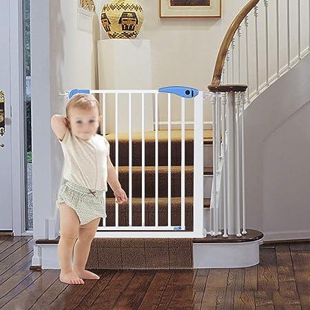 Puertas de bebé Puertas para bebés expandibles con barandas de escaleras, compuerta para Mascotas, Puerta de Entrada para Perros de Interior para Puerta, Blanco, Altura de 76 cm (Size : 63-70cm): Amazon.es:
