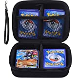 Hard Carrying Case for Pokemon Trading Cards, Card Game Holder Storage Holds up to 400 Cards. Removable Divider and Hand Strap Offered by Comecase