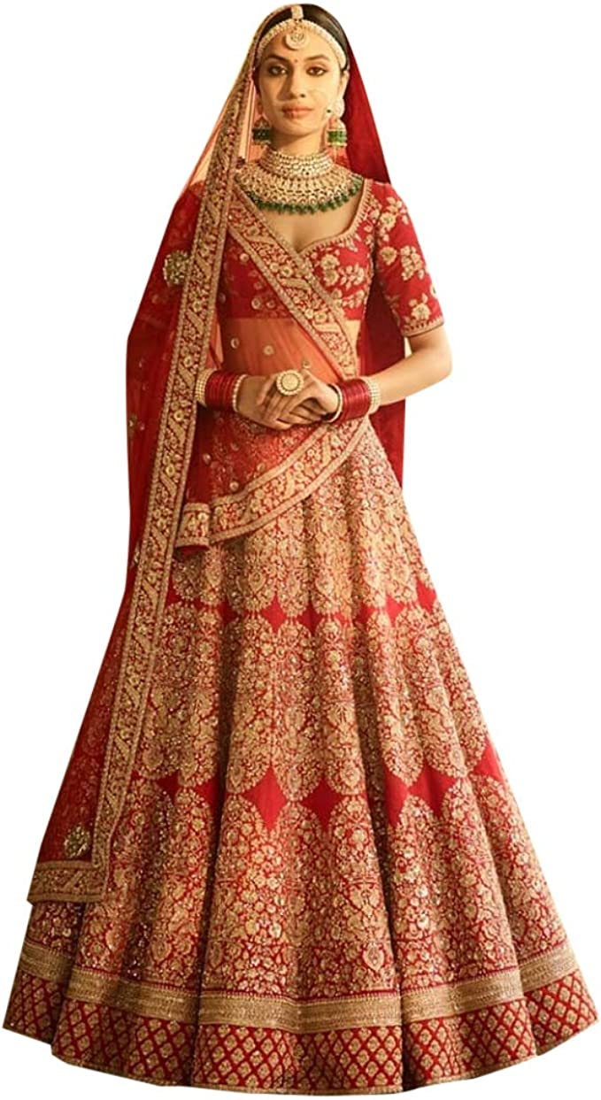 Beautiful lehenga choli with Dupatta Indian Wedding dress lehenga choli Lengha Traditonal lehenga Ethnic wear bridesmaid dresses ghagra