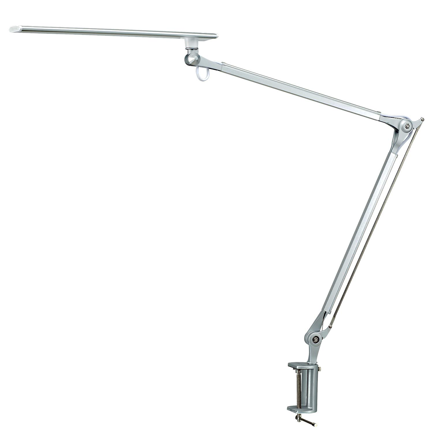 Phive CL-1 LED Architect Desk Lamp/Clamp Lamp, Metal Swing Arm Dimmable Task Lamp (Touch Control, Eye-Care Technology, Memory Function, Highly Adjustable Office/Work Light) Silver SYNCHKG118451