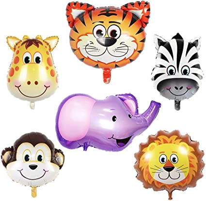 6-Piece Set Foil Balloon Animals for Kids Birthday and party decoration