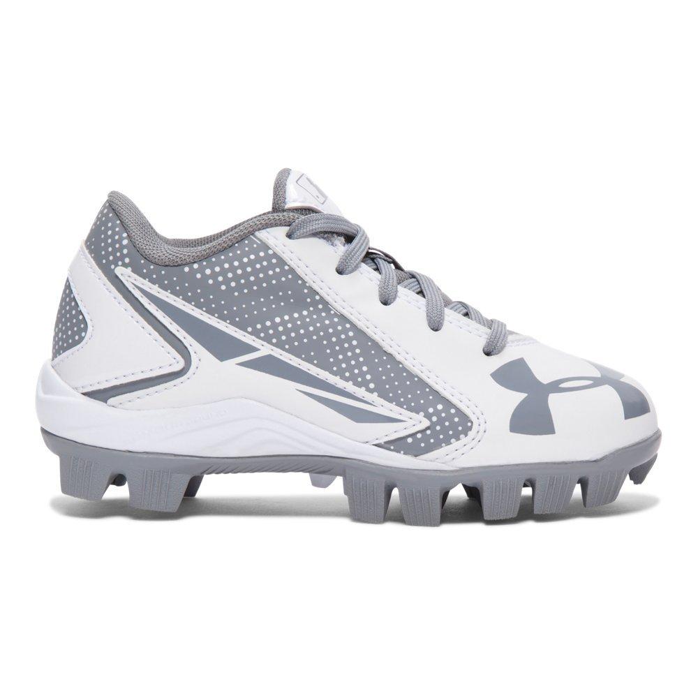 Under Armour UA Leadoff Low RM Jr. 3.5 Baseball Gray 1264187-021