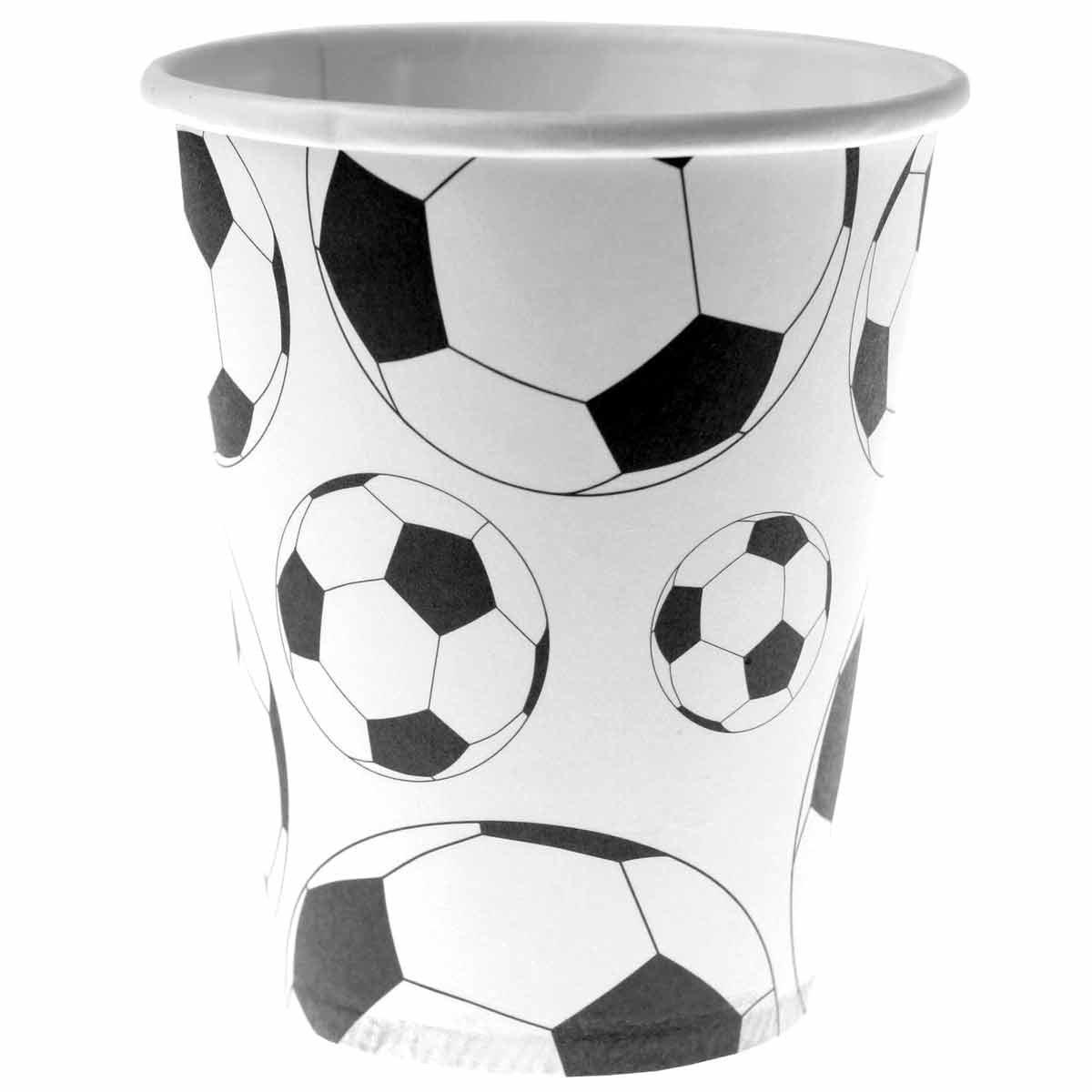 Fútbol vasos, 10 unidades, 200 ml, para fiestas temáticas ...
