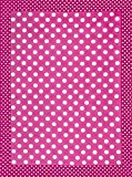 Dots and Dots Pink Brazilian Velour Beach Towel 58x74 Inches