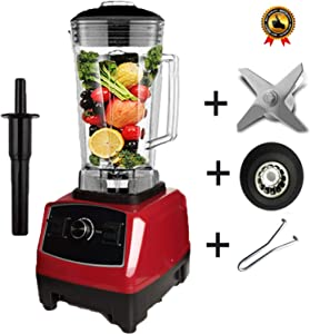BPA free 2200W Heavy Duty Commercial Blender Professional Blender Mixer Food Processor Japan Blade Juicer Ice Smoothie Machine,red full parts