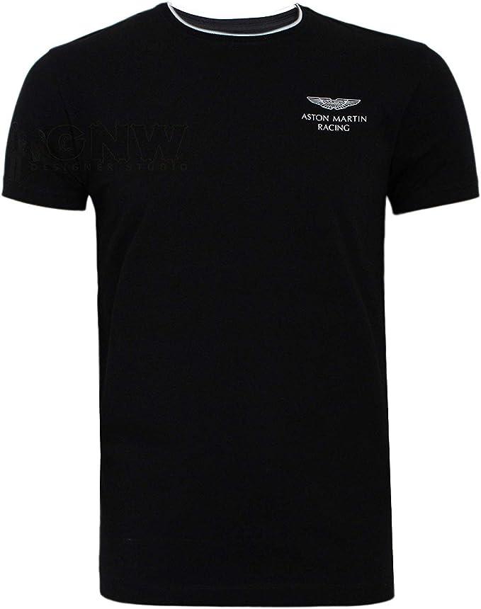 Hackett Herren Aston Martin Racing Kurze ärmel Logo T Shirt T Shirt Detail Kragen Regular Fit Schwarz M Amazon De Bekleidung