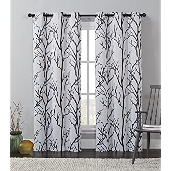 Amazon Com Black And White Curtains By Factory4me Black
