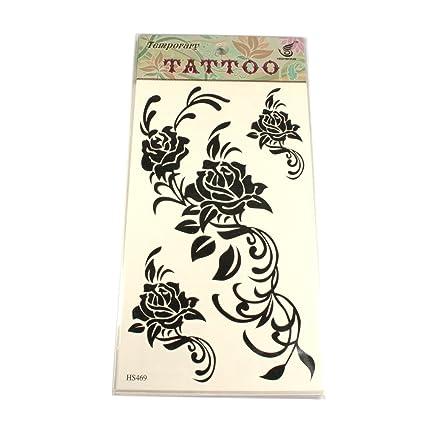 Tatuajes con enredaderas de rosas negras.: Amazon.es: Belleza