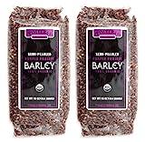 Timeless Natural Food USDA Certified Organic Semi-Pearled Purple Prairie Barley 16 oz each (2-Pack)
