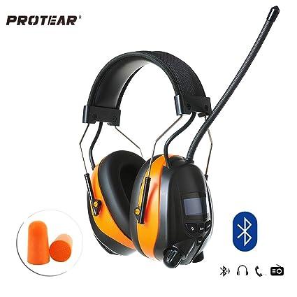 Protear protezioni auricolari Bluetooth con DAB DAB + radio FM ... ebe8802f34a1