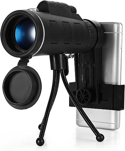 Phone Telescope Lens 40x60 Monocular Telescope 8X Zooming Manual Focusing Night Vision Phone Monocular Telescope Jacksking Monocular Telescope
