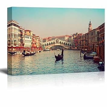 amazon com wall26 canvas prints wall art rialto bridge and