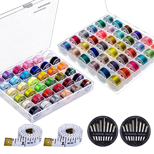 - Paxcoo 72 Pcs Bobbins and Sewing Thread with Case for Brother Singer Babylock Janome Kenmore (Assorted Colors)
