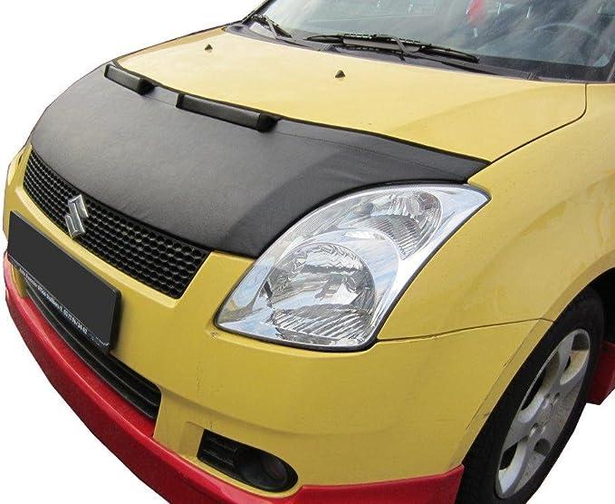 AB-00774 Carbon Fiber Look Hood Bra fit Suzuki Swift 2010-2017 Front End Nose Mask Bonnet Bra