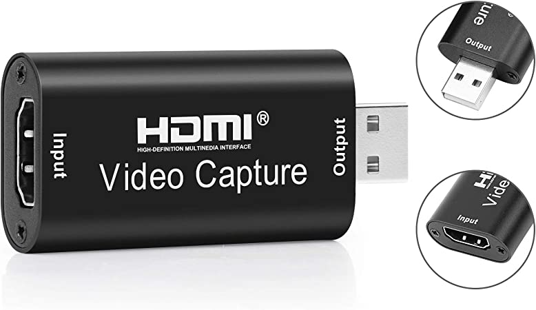 Image ofCaliwa Capture Card HDMI HD Game Video Capture Card, portable Plug & Play Capture Card Ultra-Low Latency Technology, para Windows Linux Mac OS X sistema Android negro Tarjeta de captura de vídeo.