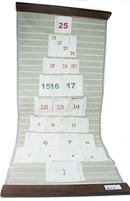 Amazon Com Advent Calendar Countdown To Christmas Pocket Fabric