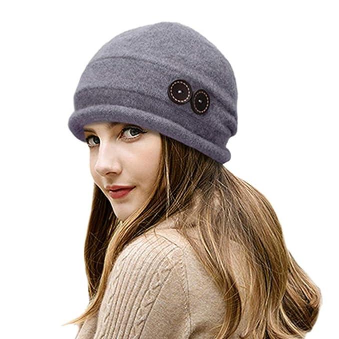 WPSLEDLOL Sombreros de Invierno para Mujer Gorros Sombrero de Punto Caliente Señoras Crochet Skullies Gorros Chica Gorro Ski Cap Femme Bonnet: Amazon.es: ...