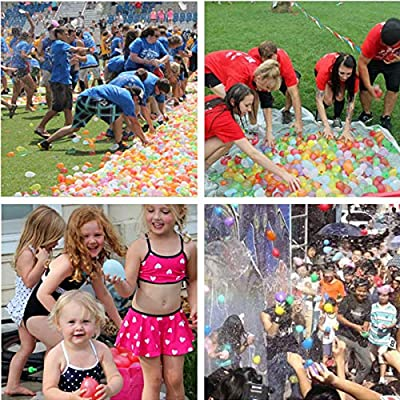 Ueerdand 1700 Pack Water Balloons with Refill Hose Nozzle Eco-Friendly Latex Balloons for Kids Adults Outdoor Water Bomb Fight Games (1700 Balloons): Toys & Games