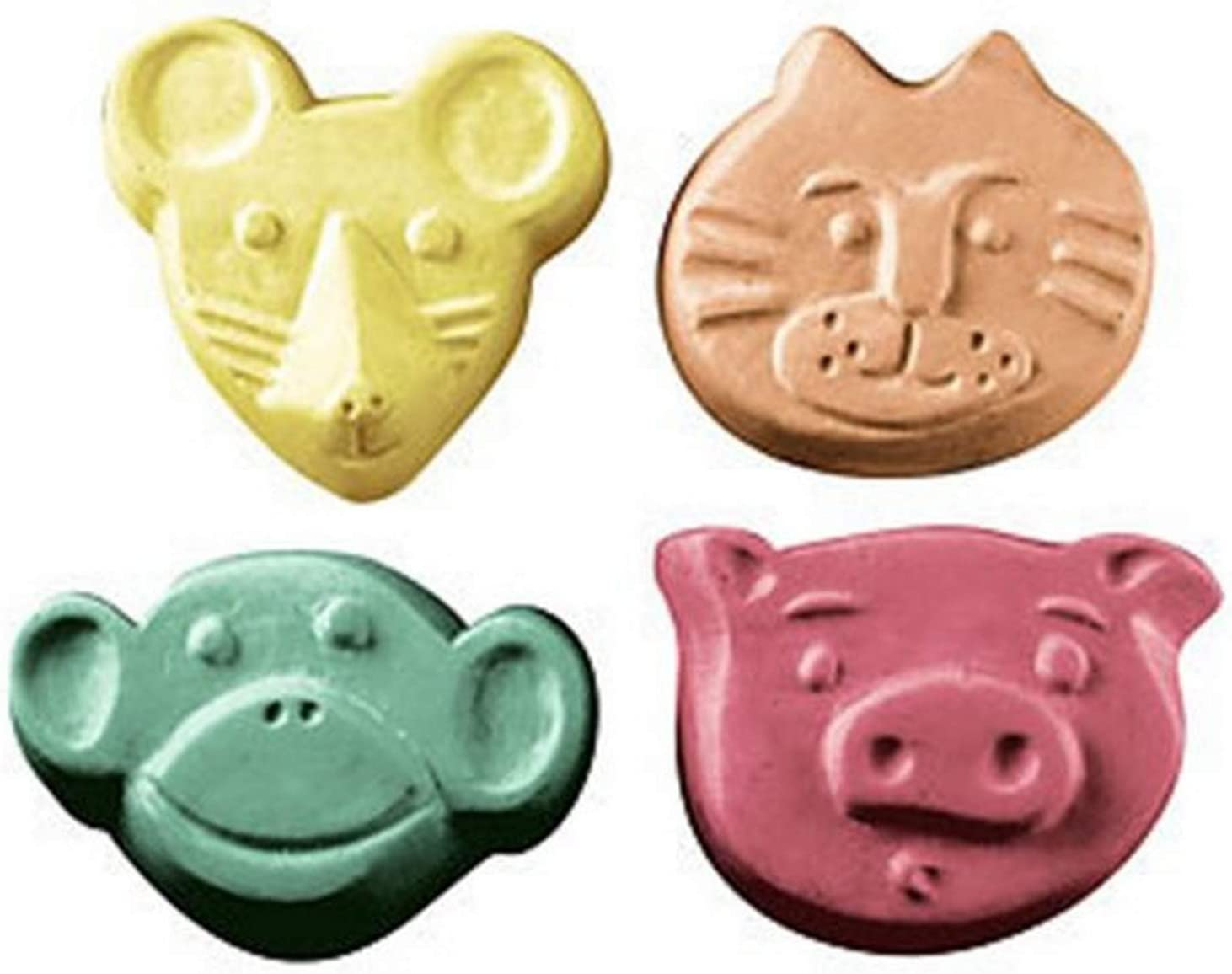 CybrTrayd MW 110 Mouse Cat Pig Monkey Guest Soap Mold in Sealed Poly Bag