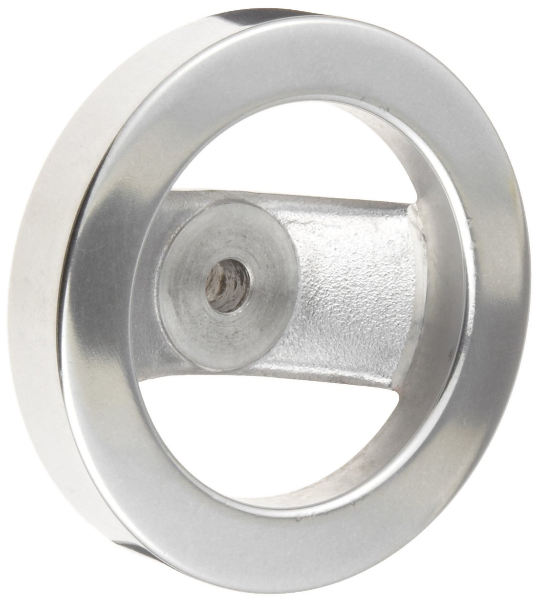 2 Spoked Polished Aluminum Dished Hand Wheel without Handle, 4'' Diameter, 3/8'' Hole Diameter (Pack of 1)