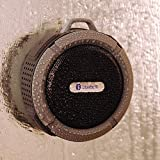TurnRaise 5 Watt Driver Portable Waterproof Bluetooth 3.0 Speaker Rugged Wireless for Outdoor/Shower with Built-in Microphone & Suction Cup & Snap Hook - Black