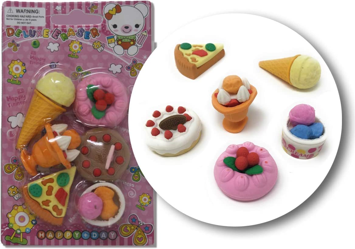 Japanese Erasers for Kids Prizes for Kids Cute Erasers Classroom Prizes Carnival Prizes Treasure Box Toys Small Toys for Prizes Puzzle Erasers for Kids Take Apart Erasers Pull Apart Erasers 3D Erasers