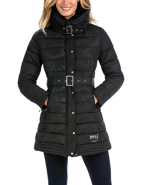 Ropa Desigual Black Abrigo es Mujer 36 negro Para Four Amazon BFzqxrwBI