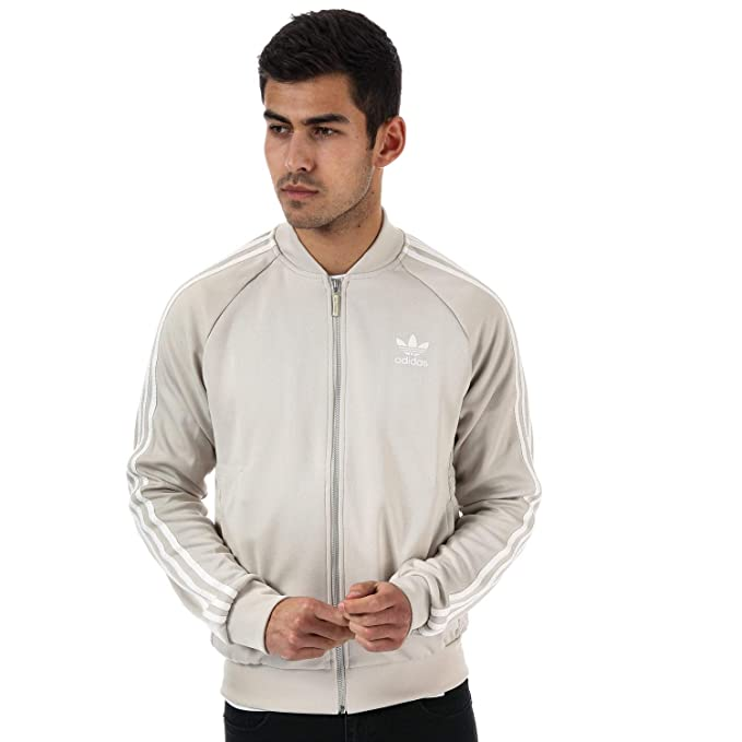 9168355b22a1 adidas Originals Mens Superstar Mesh Track Jacket in Beige  adidas  Originals  Amazon.co.uk  Clothing