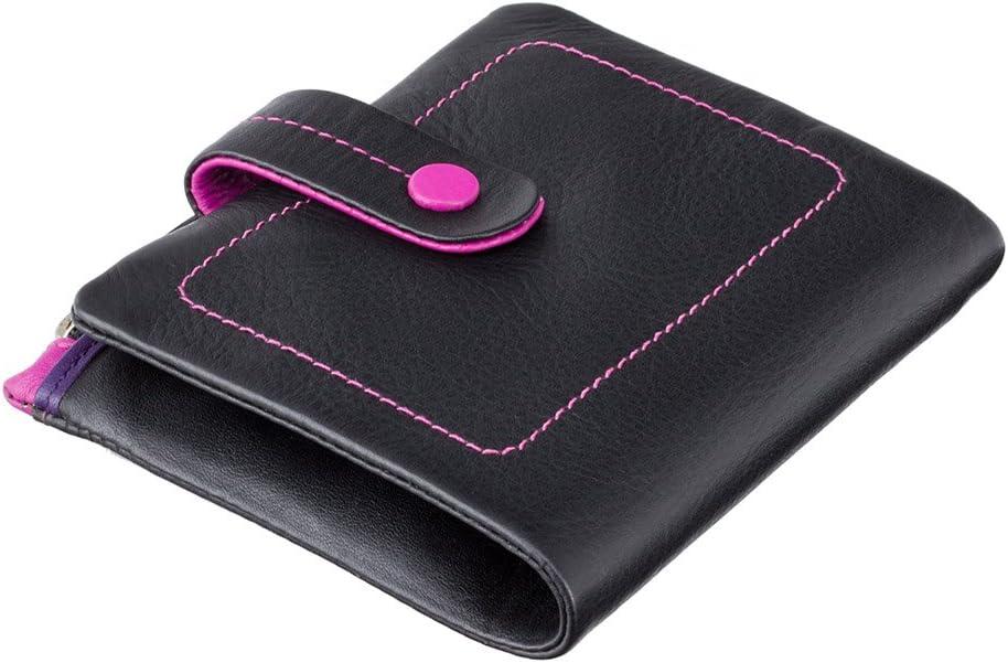 nero M77 : black multi Visconti portafoglio di pelle da donna a piegatura doppiaMimi multicolore