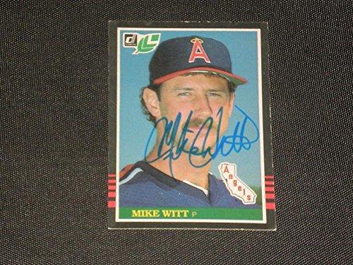 Autographed Donruss 1985 Card (Mike Witt 1985 Donruss Leaf Signed Auto Card #46 Tough! - Baseball Slabbed Autographed Cards)