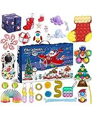 Fidget Advent Calendar 2021 Christmas Countdown Calendar 24 Days Pop-It Toys Box, Christmas Advent Calendar Cheap Fidget Toy Set, Christmas Countdown Calendar Toys Sets Fidget Toy Box