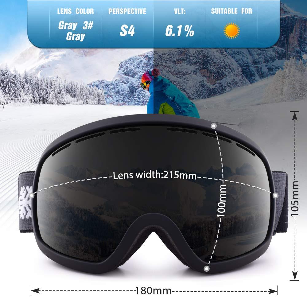 Amazon.com: Gafas de esquí y snowboard con protección UV400 ...