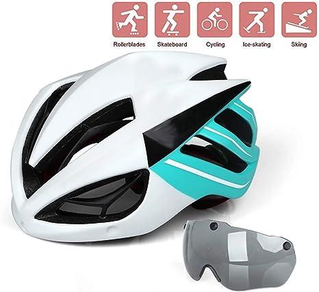 Ycrdtap Casco de Bicicleta Transpirable de Seguridad, Casco de ...