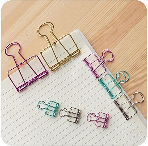 m-h-r-retro-hollow-colorful-clips-metal-office-file-bill-wire-binder-clip-organizer-pack-of-12-mint-