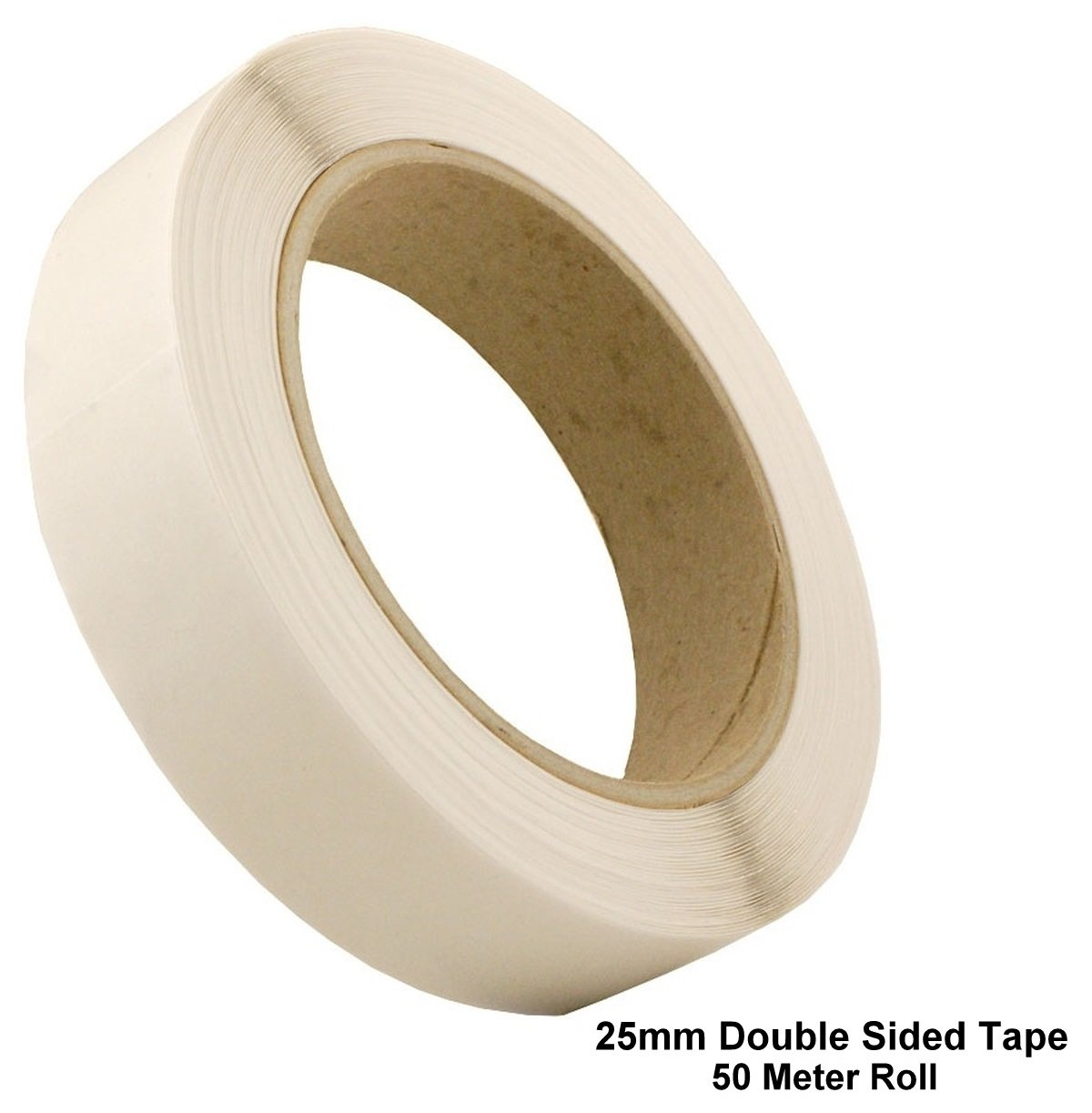 50m 25mm Clear Double Sided Sellotape Strong Tape Roll Permanent Self Adhesive