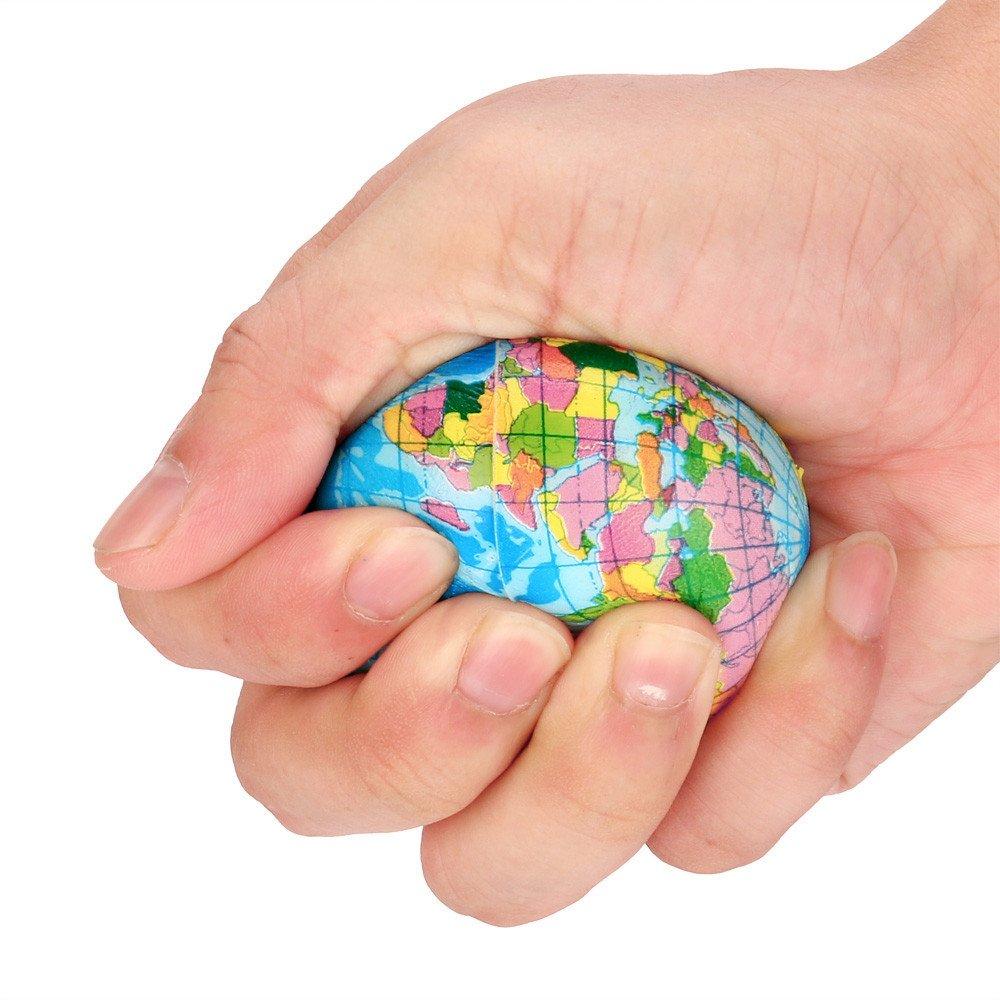 Wenini Mochi Squishys Toys, Mini World Map Foam Ball Atlas Globe Palm Ball Planet Earth Ball Mochi Squishies Toys Party Favors for Kids Toys (B - 60mm) by Wenini (Image #5)
