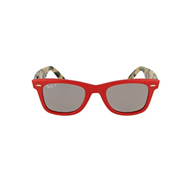 0505337aaf45e ... clearance ray ban wayfarer polarized square sunglasses red 50 mm f2010  b80b6